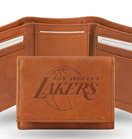 Los Angeles Lakers Genuine Leather Vintage Trifold Wallet