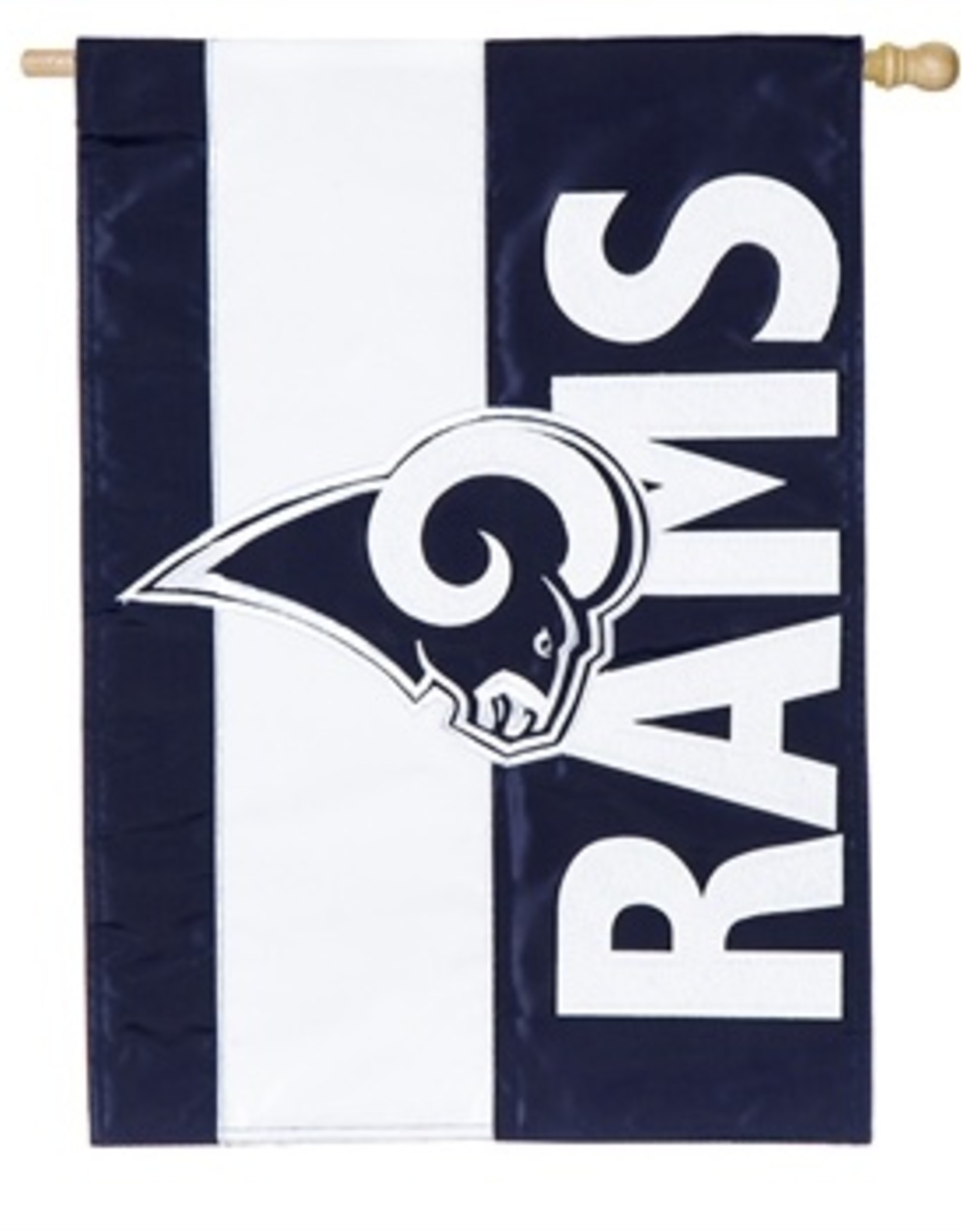 """EVERGREEN Los Angeles Rams 28"""" x 44"""" Striped House Flag"""