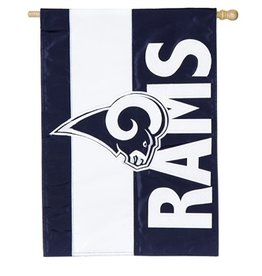 "EVERGREEN Los Angeles Rams 28"" x 44"" Striped House Flag"