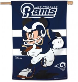 "WINCRAFT Los Angeles Rams Disney Mickey Mouse 28"" x 40"" House Flag"