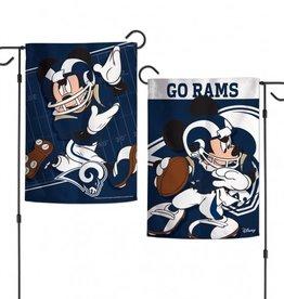 "WINCRAFT Los Angeles Rams Disney Mickey Mouse 12.5"" x 18"" Garden Flag"