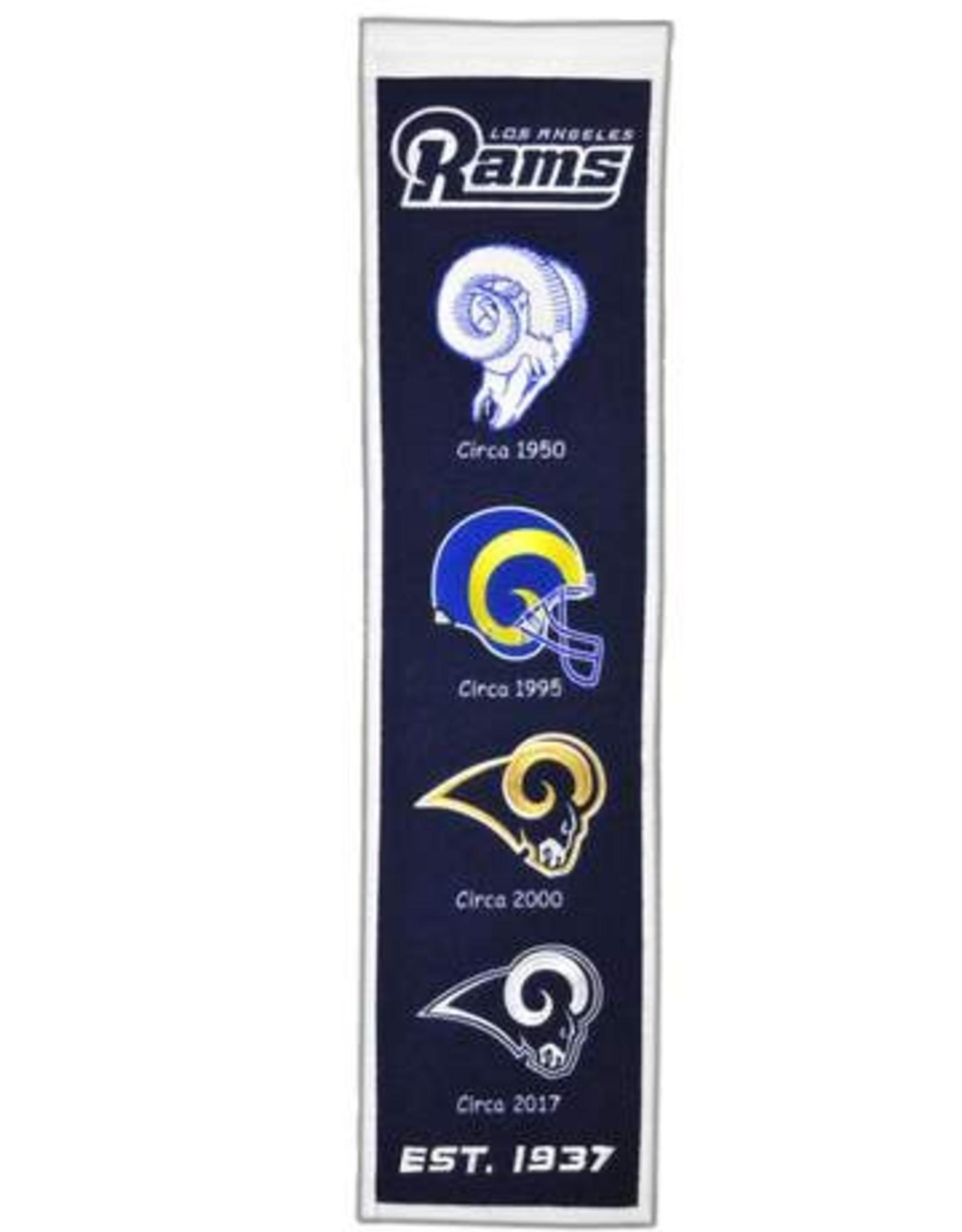 WINNING STREAK SPORTS Los Angles Rams Heritage Banner