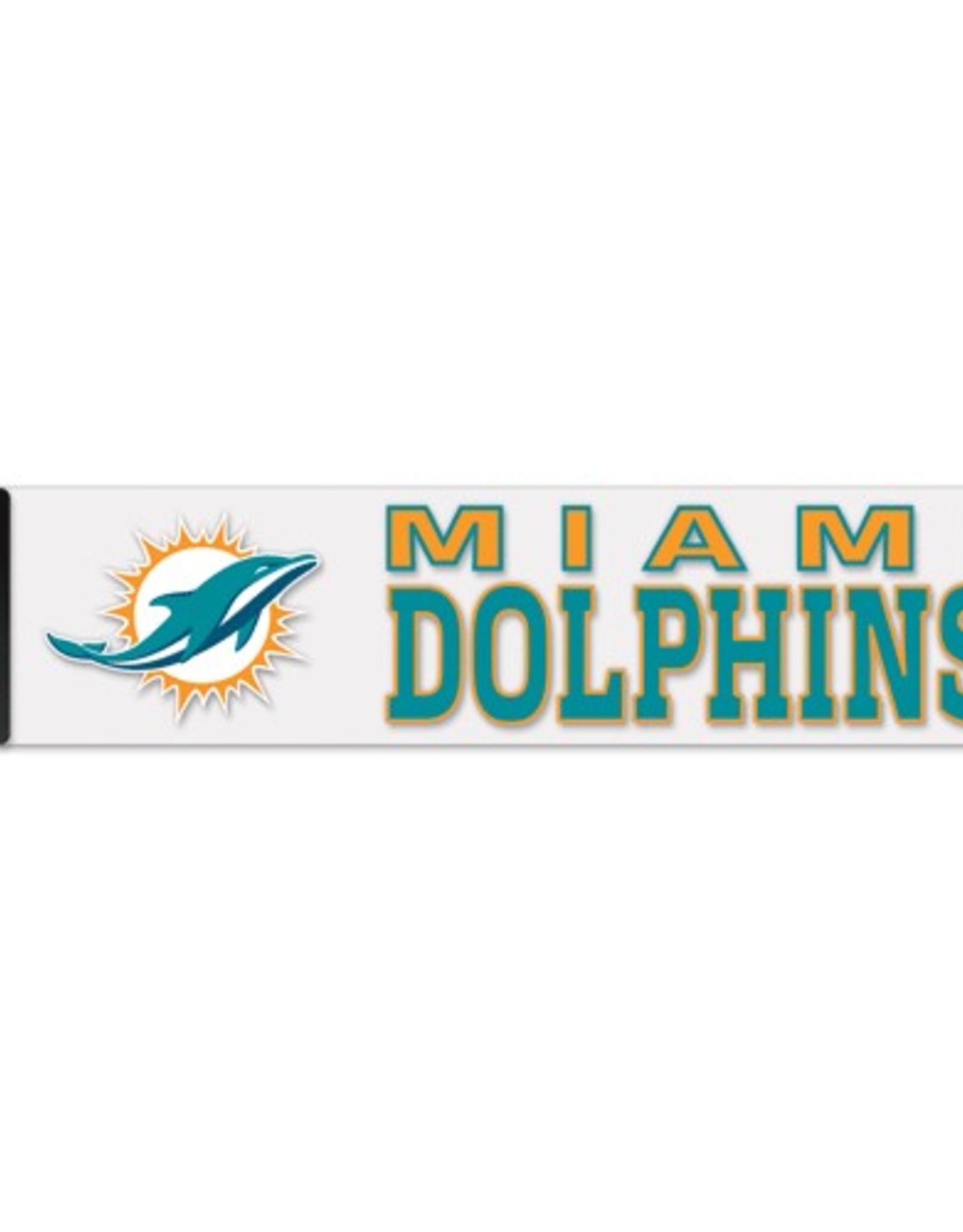 """WINCRAFT Miami Dolphins 4""""x17"""" Perfect Cut Decals"""