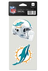 Miami Dolphins Set of Two 4x4 Perfect Cut Decals