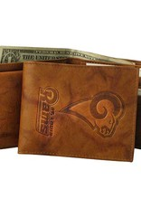 RICO INDUSTRIES Los Angeles Rams Genuine Leather Vintage Billfold Wallet