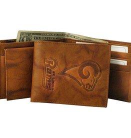 Los Angeles Rams Genuine Leather Vintage Billfold Wallet