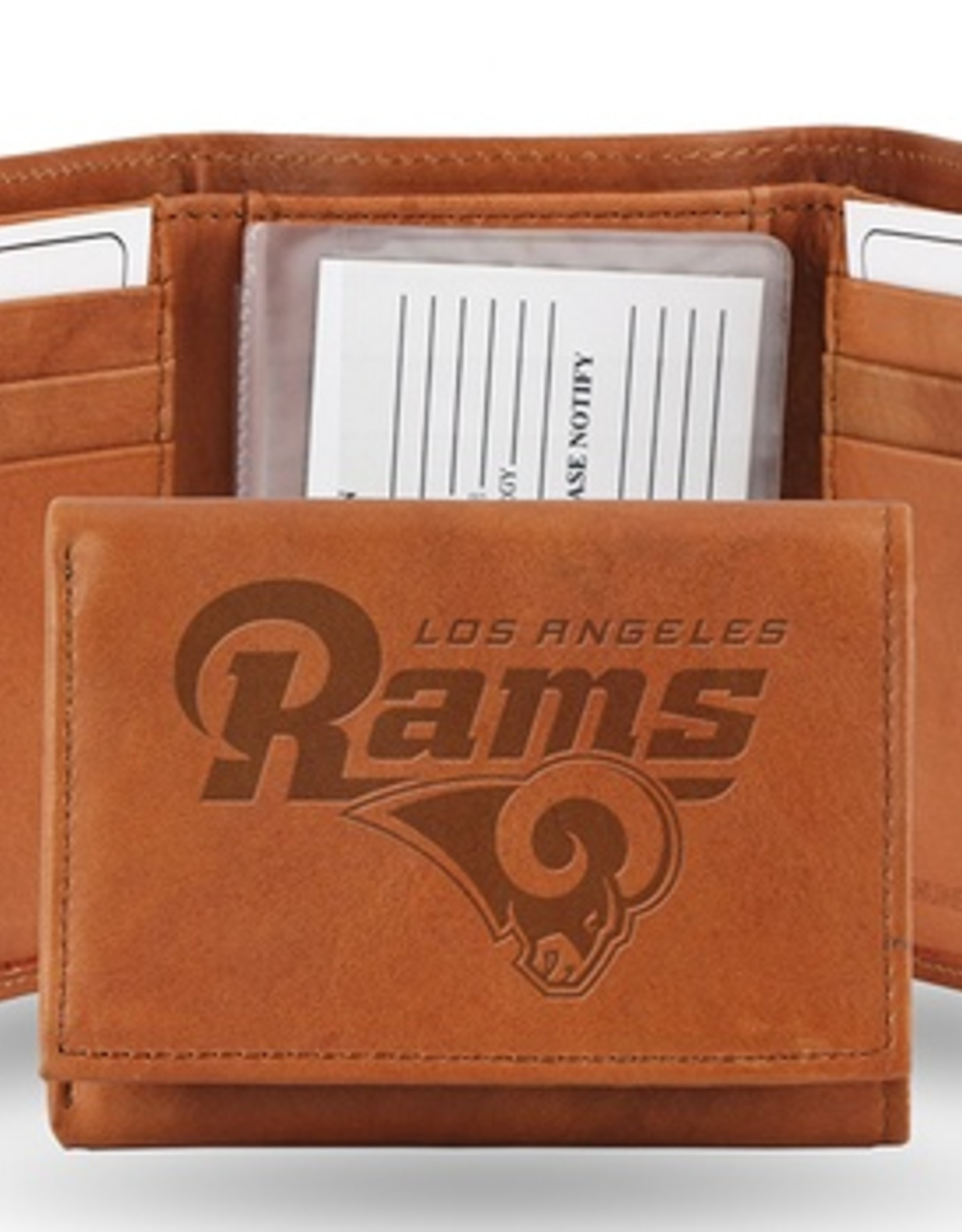 RICO INDUSTRIES Los Angeles Rams Genuine Leather Vintage Trifold Wallet
