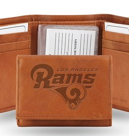 Los Angeles Rams Genuine Leather Vintage Trifold Wallet