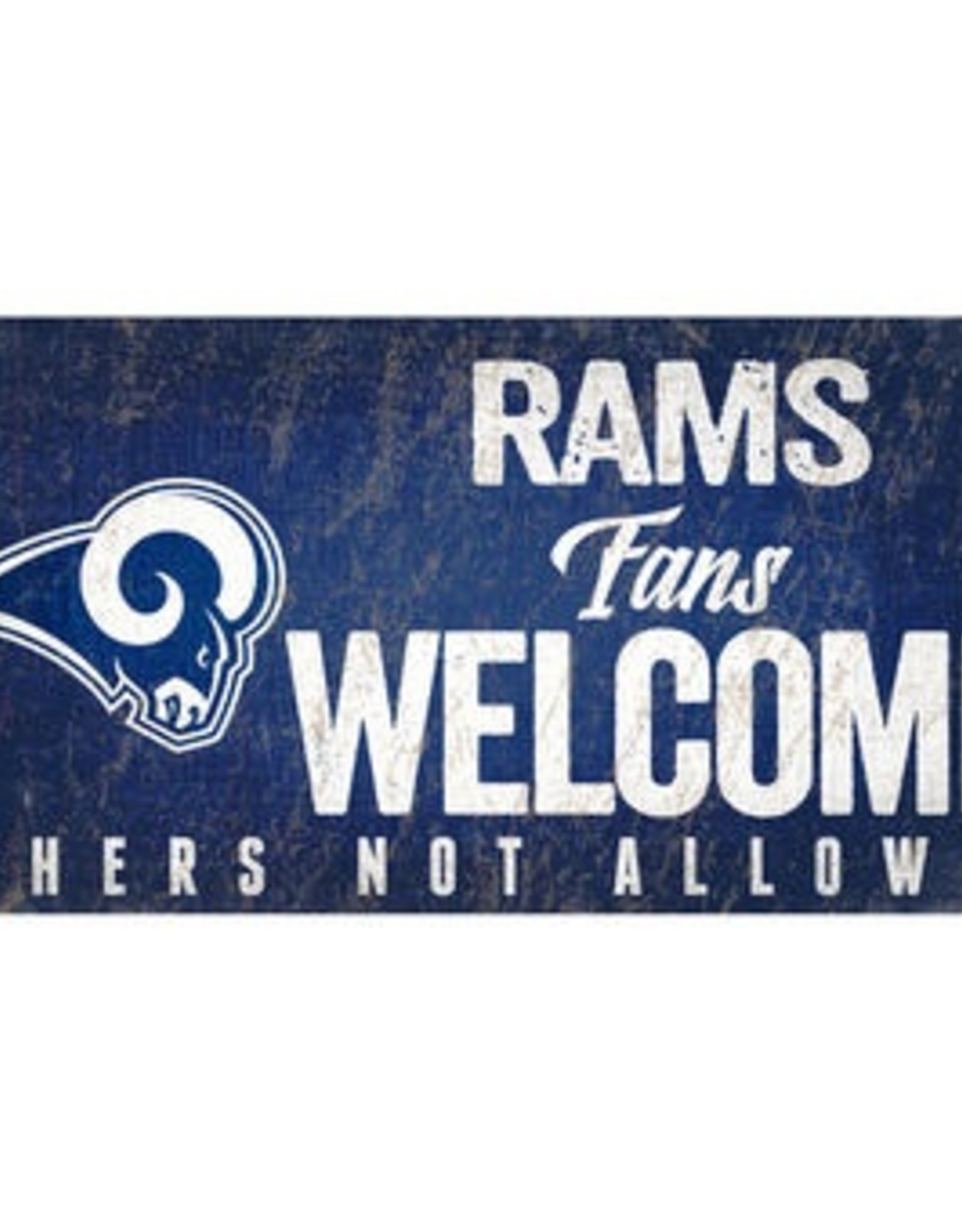 FAN CREATIONS Los Angeles Rams Fans Welcome Sign