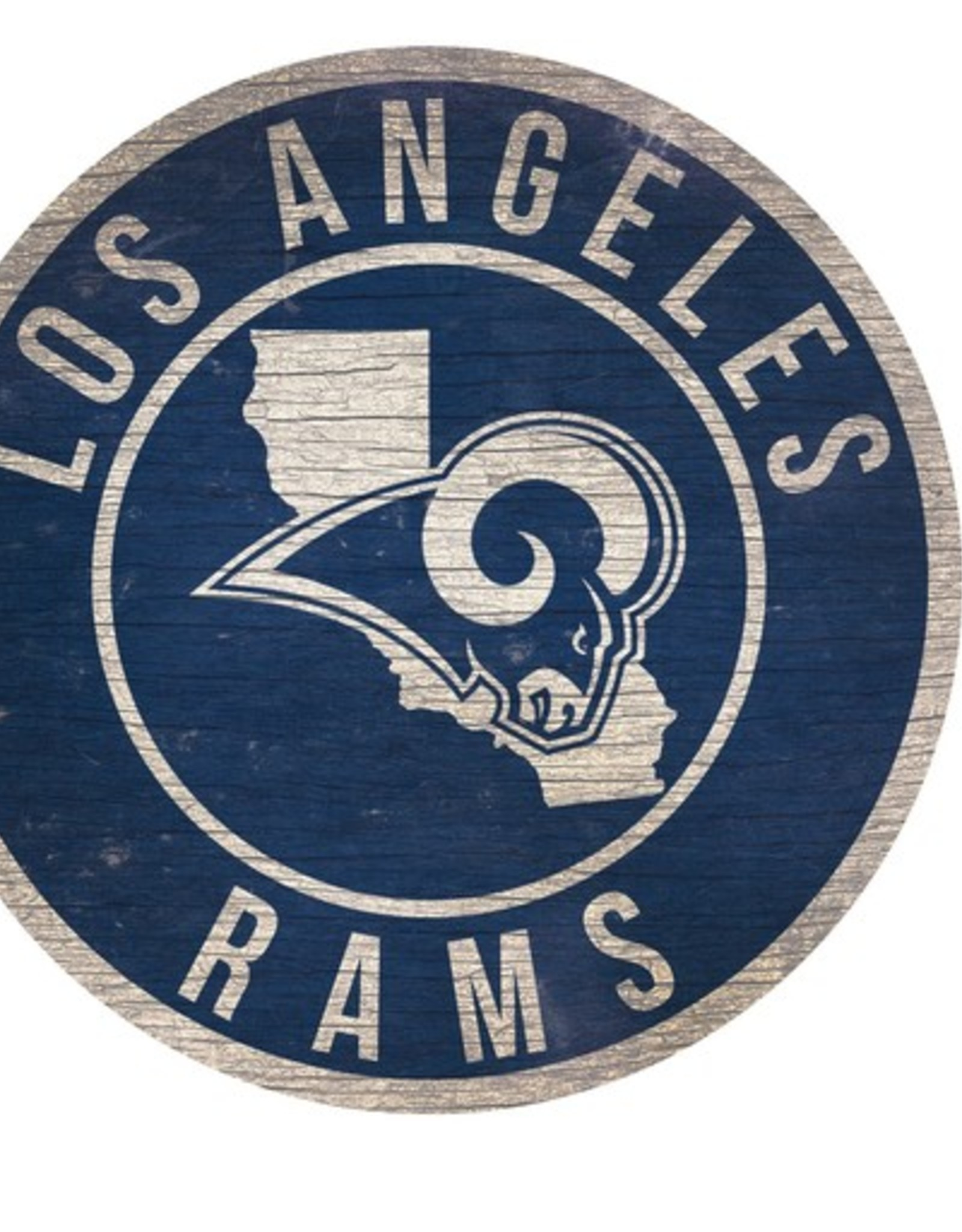 FAN CREATIONS Los Angeles Rams Round State Sign