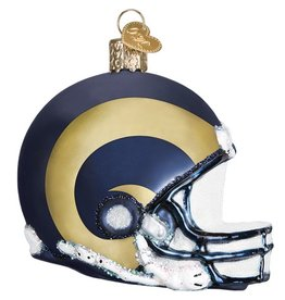 OLD WORLD CHRISTMAS Los Angeles Rams Helmet Ornament