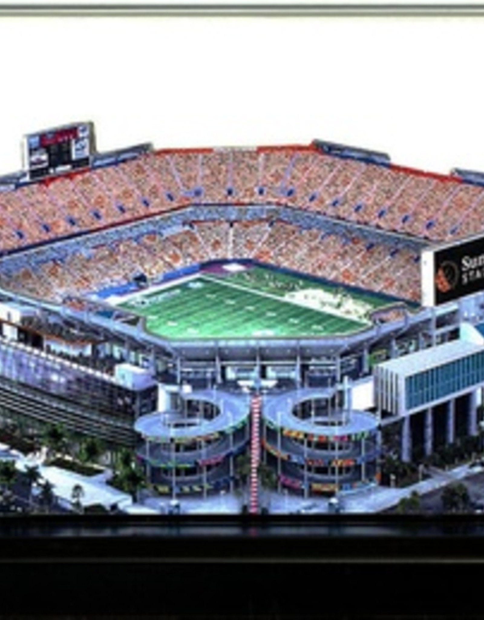 HOMEFIELDS Miami Dolphins 13IN Lighted Replica Sun Life Stadium