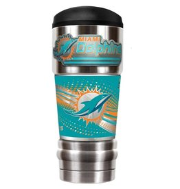 GREAT AMERICAN PRODUCTS Miami Dolphins 18oz The MVP Stainless Tumbler