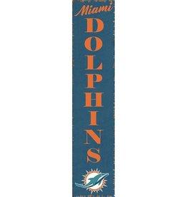 RUSTIC MARLIN Miami Dolphins Vertical Rustic Sign