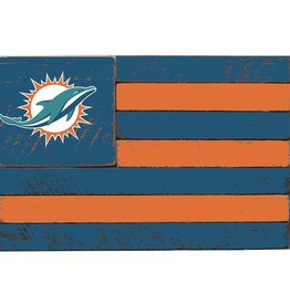 RUSTIC MARLIN Miami Dolphins Rustic Team Flag