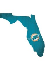 FAN CREATIONS Miami Dolphins Team Logo State Sign