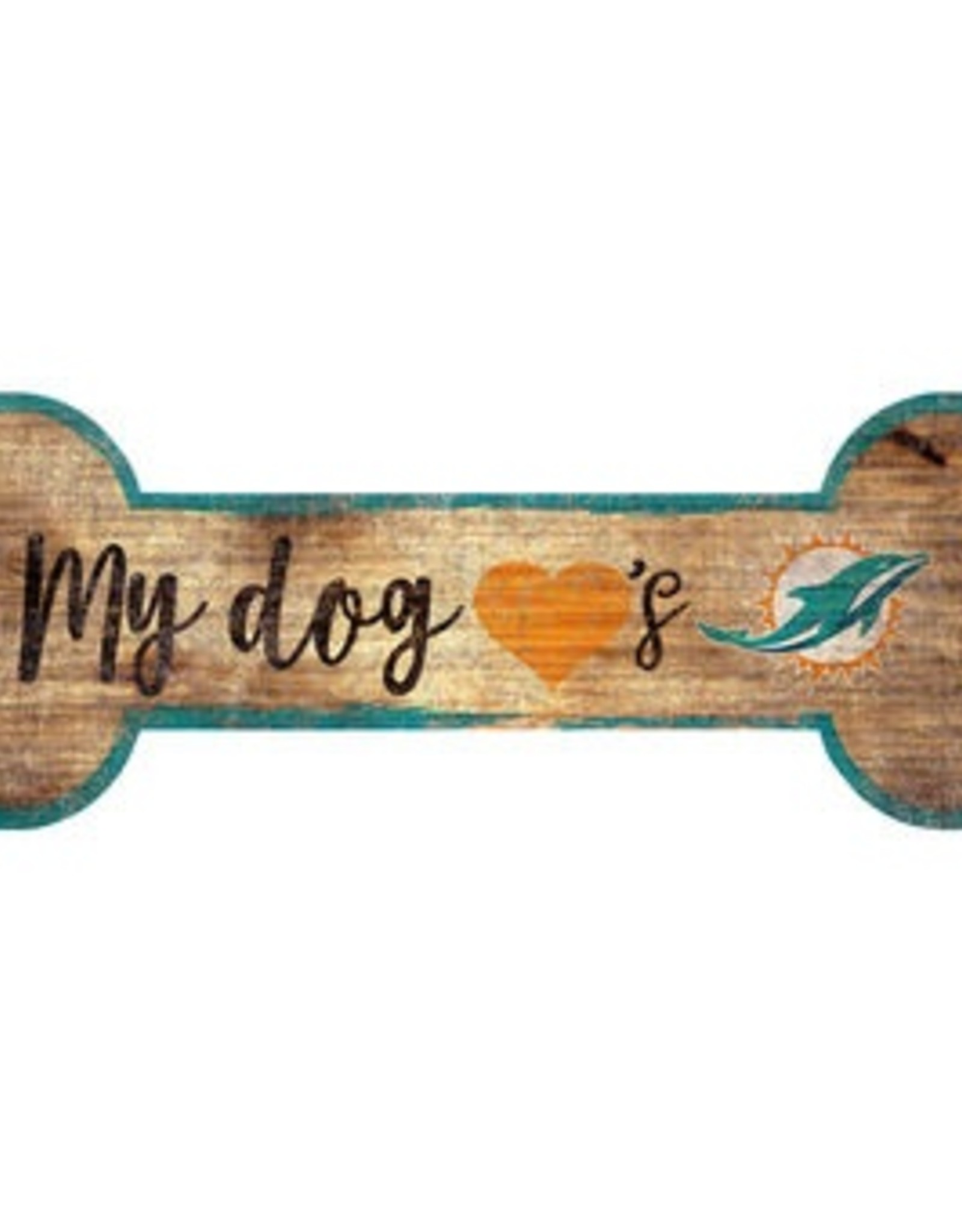 FAN CREATIONS Miami Dolphins Dog Bone Sign