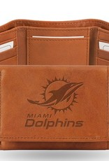 RICO INDUSTRIES Miami Dolphins Genuine Leather Vintage Trifold Wallet