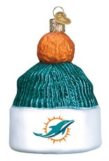 OLD WORLD CHRISTMAS Miami Dolphins Beanie Ornament