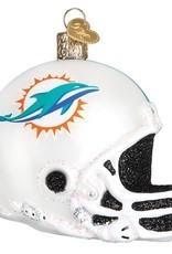 OLD WORLD CHRISTMAS Miami Dolphins Helmet Ornament