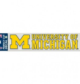 "WINCRAFT Michigan Wolverines 4""x17"" Perfect Cut Decals"