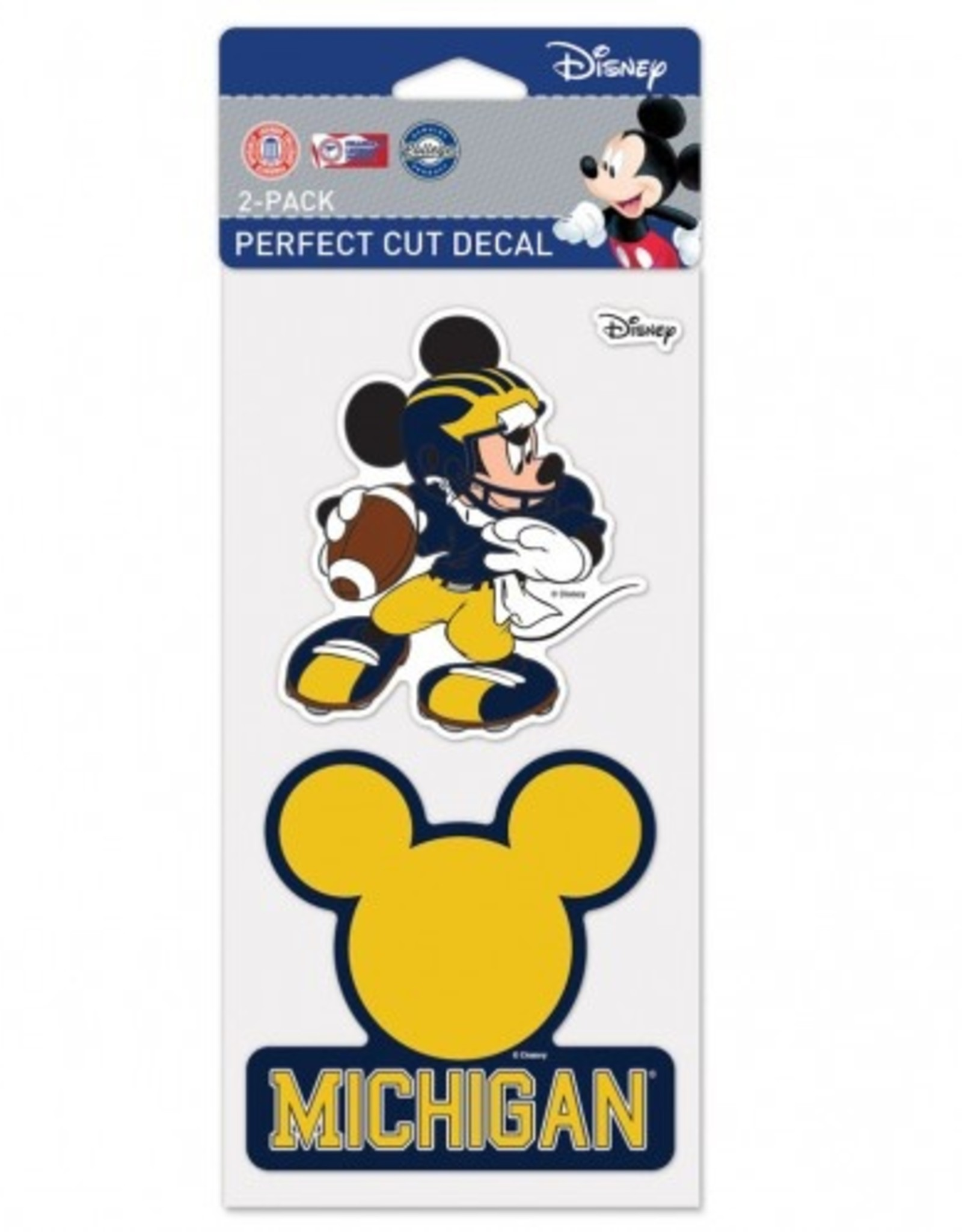 WINCRAFT Michigan Wolverines Set of Two DISNEY 4x4 Perfect Cut Decals