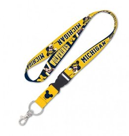 Michigan Wolverines Disney Mickey Mouse Lanyard