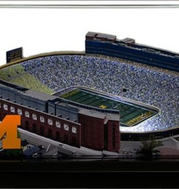 HOMEFIELDS University of Michigan 9in Lighted Replica Michigan Stadium