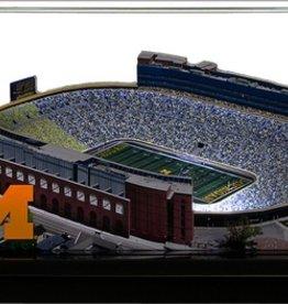 HOMEFIELDS University of Michigan 19IN Lighted Replica Michigan Stadium