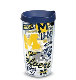Michigan Wolverines 16oz Tervis All Over Print Tumbler