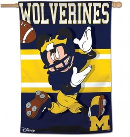 "WINCRAFT Michigan Wolverines Disney Mickey Mouse 28"" x 40"" House Flag"