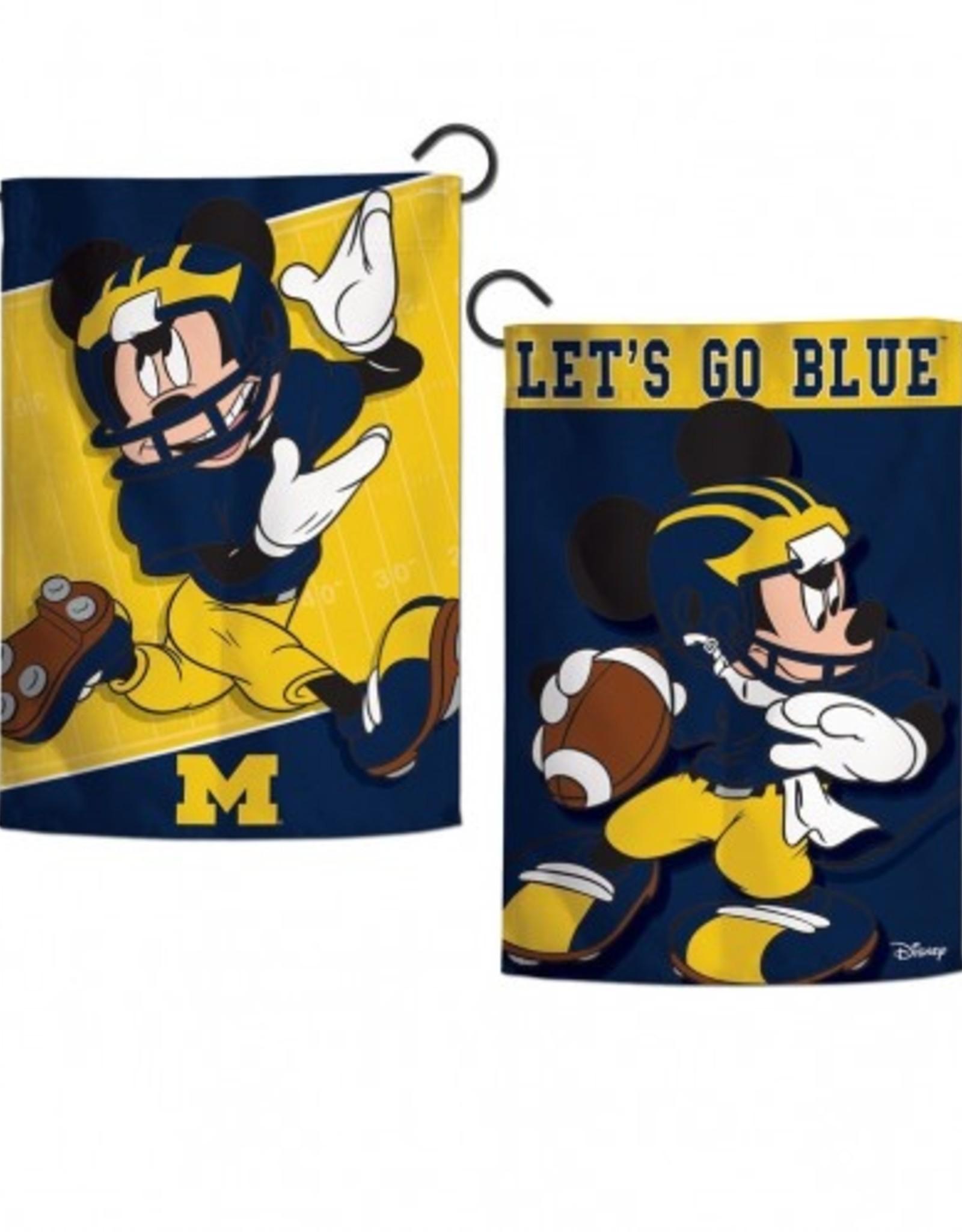 "WINCRAFT Michigan Wolverines Disney Mickey Mouse 12.5"" x 18"" Garden Flag"