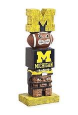 EVERGREEN Michigan Wolverines Tiki Totem