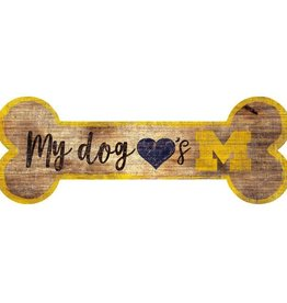 FAN CREATIONS University of Michigan Wolverines Dog Bone Sign