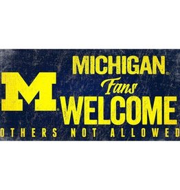 FAN CREATIONS University of Michigan Wolverines Fans Welcome Sign