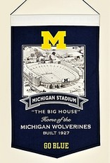 WINNING STREAK SPORTS Michigan Wolverines Stadium Banner