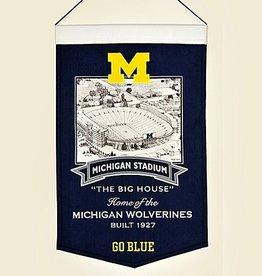 WINNING STREAK SPORTS Michigan Wolverines Stadium Banner