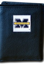 SISKIYOU GIFTS Michigan Wolverines Executive Black Leather Trifold Wallet