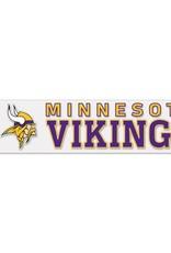 """WINCRAFT Minnesota Vikings 4""""x17"""" Perfect Cut Decals"""