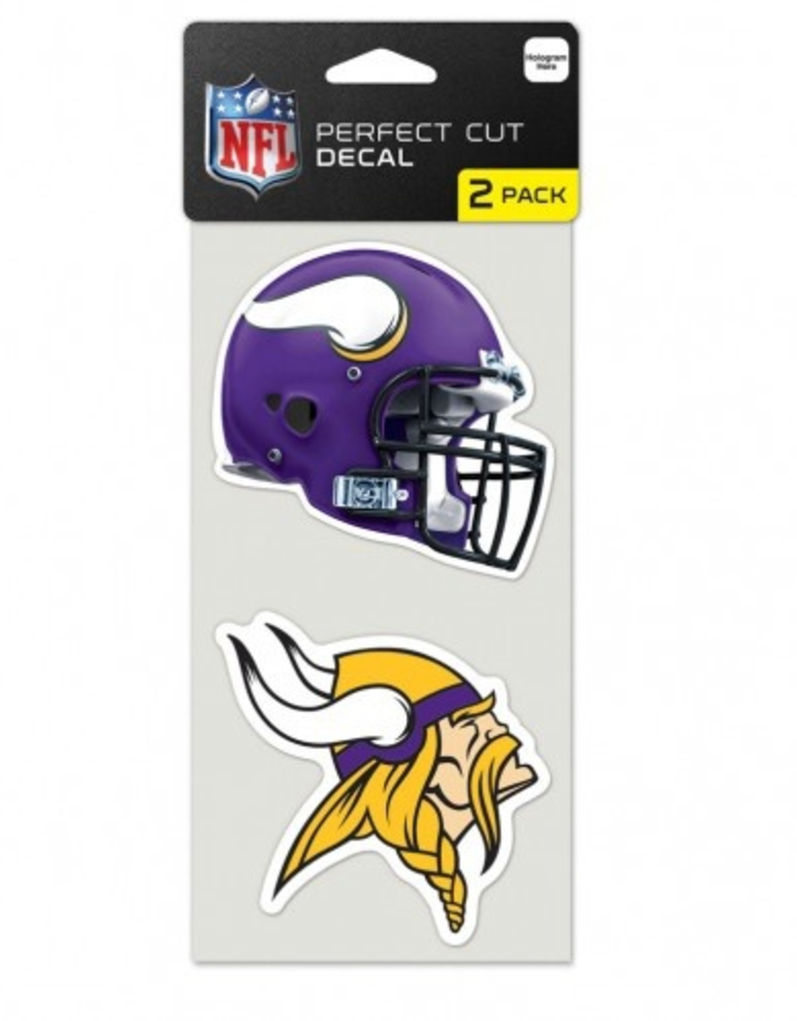 Minnesota Vikings Set of Two 4x4 Perfect Cut Decals