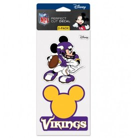 WINCRAFT Minnesota Vikings Set of Two DISNEY 4x4 Perfect Cut Decals