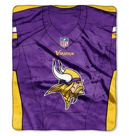 "Minnesota Vikings 50in x 60in NFL ""Jersey"" Royal Plush Raschel Throw"