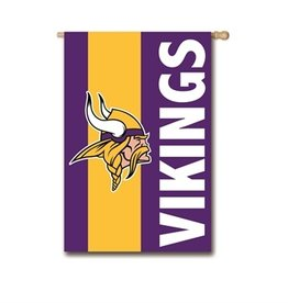 "EVERGREEN Minnesota Vikings 28"" x 44"" Striped House Flag"
