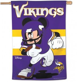 "WINCRAFT Minnesota Vikings Disney Mickey Mouse 28"" x 40"" House Flag"