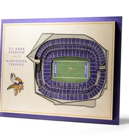 YOU THE FAN Minnesota Vikings 5-Layer 3D Stadium Wall Art