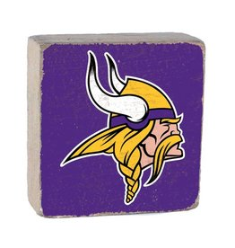 RUSTIC MARLIN Minnesota Vikings Rustic Wood Team Block