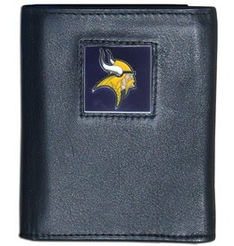 Minnesota Vikings Executive Black Leather Trifold Wallet