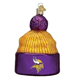 OLD WORLD CHRISTMAS Minnesota Vikings Beanie Ornament