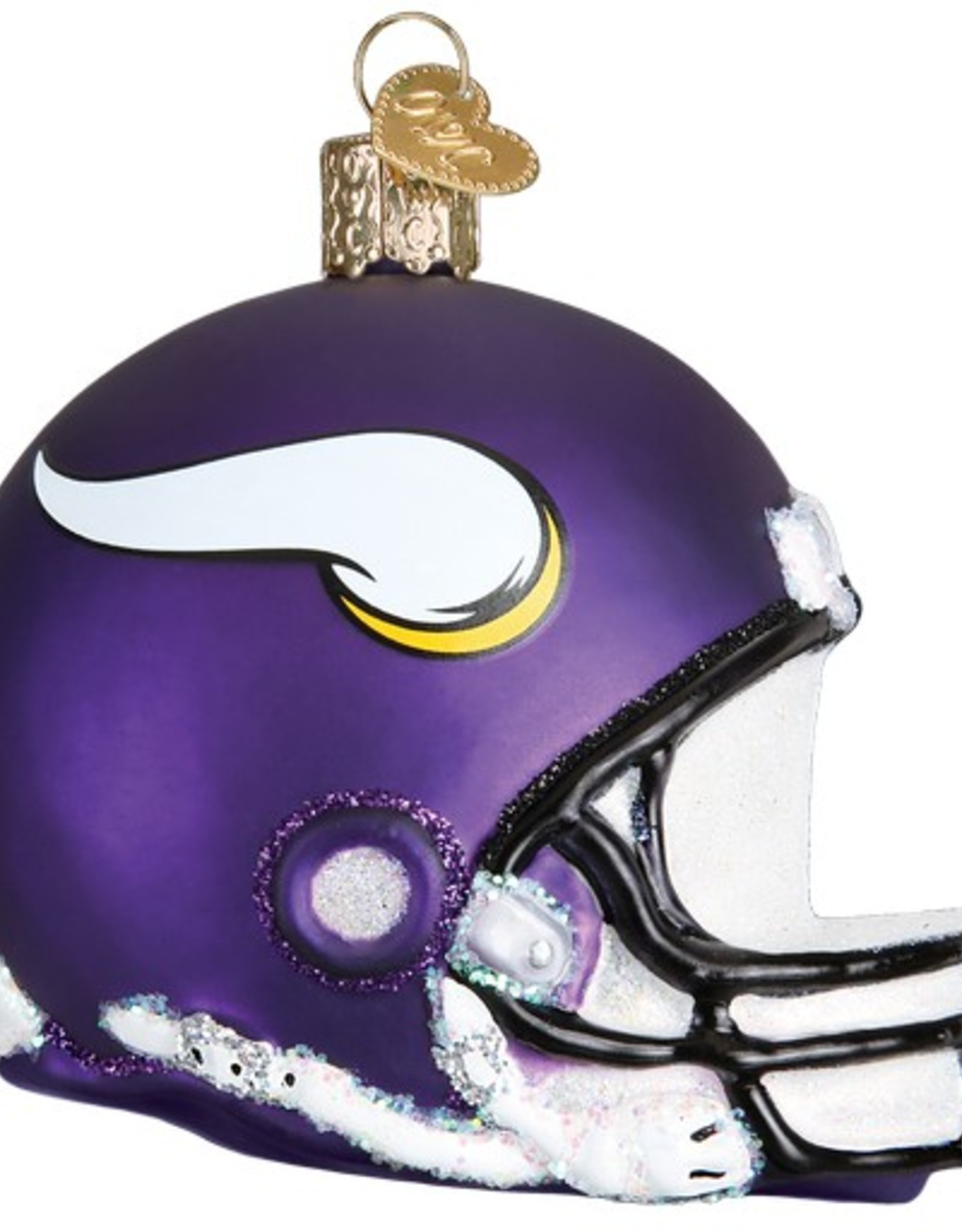 OLD WORLD CHRISTMAS Minnesota Vikings Helmet Ornament ...