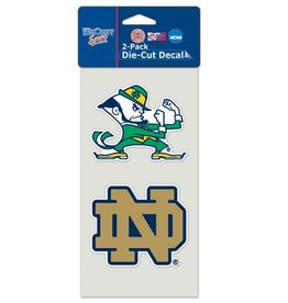 Notre Dame Fighting Irish Set of Two 4x4 Perfect Cut Decals